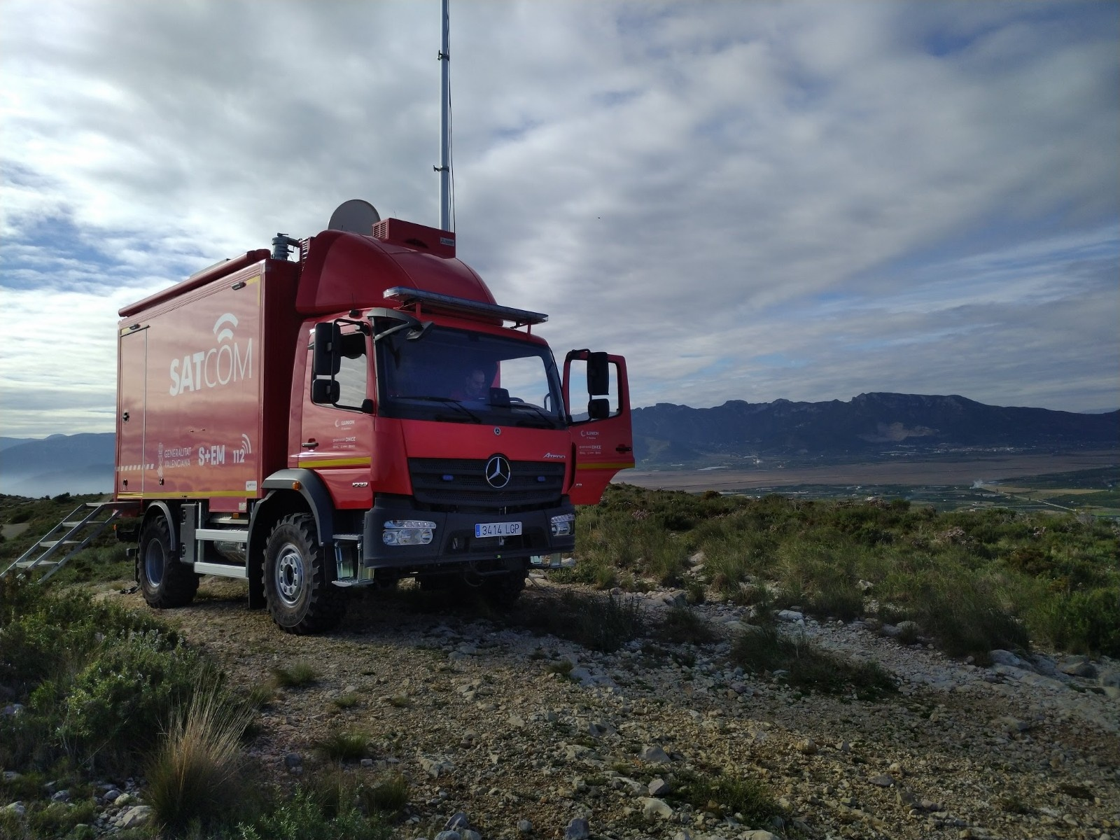 The new Mobile Communications Unit for the emergency service (112) of the Generalitat Valenciana celebrates its first year of operation